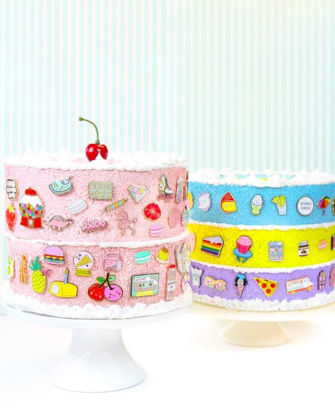 DIY Faux-Cake Flair aka #Pingame Organizers