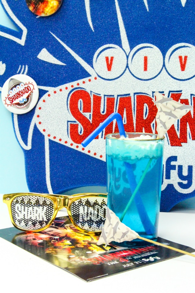 DIY Sharknado Drink Stirrers and Sharktistic Drink