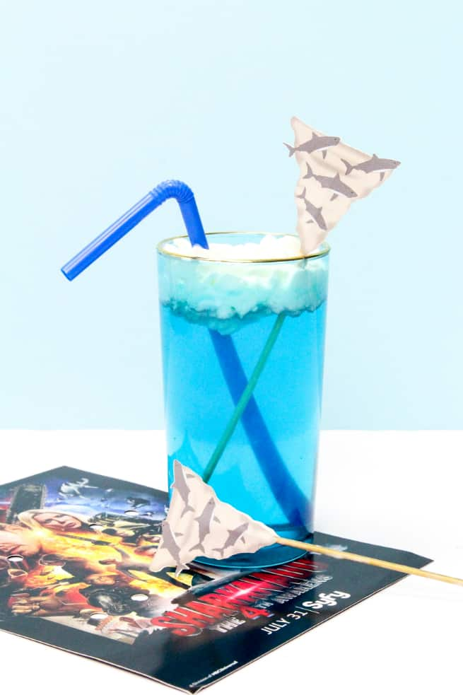 DIY Sharknado Drink Stirrers