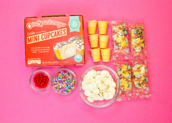 Easy Mini No Bake Cupcake Cone Supplies