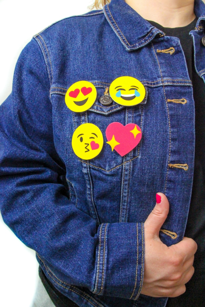Fun DIY Printable Emoji Pins