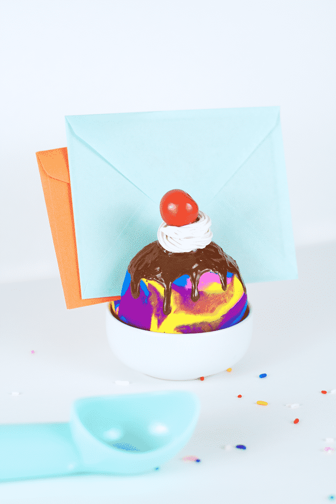 Ice Cream Sundae Letter Holder 11