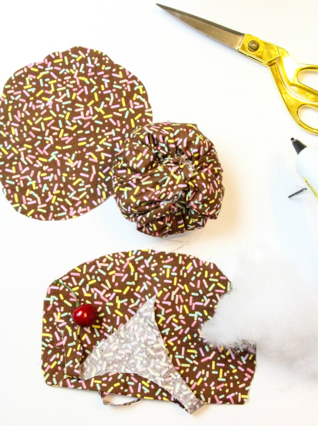 No Sew DIY Splattered Ice Cream Pin Cushions Step 3