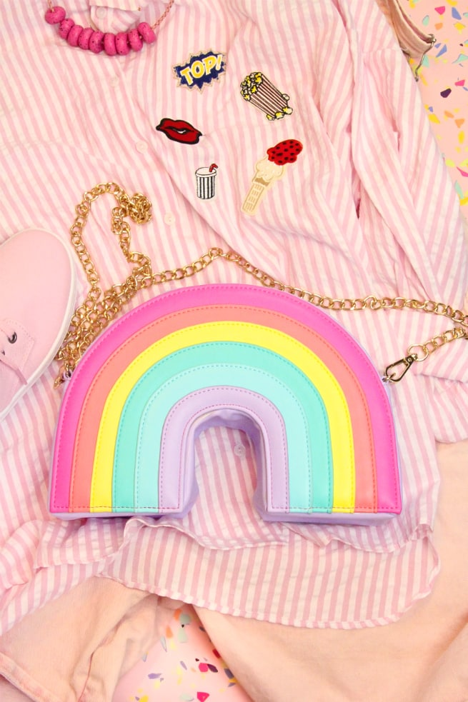 Rainbow Cooler in Cotton Purse