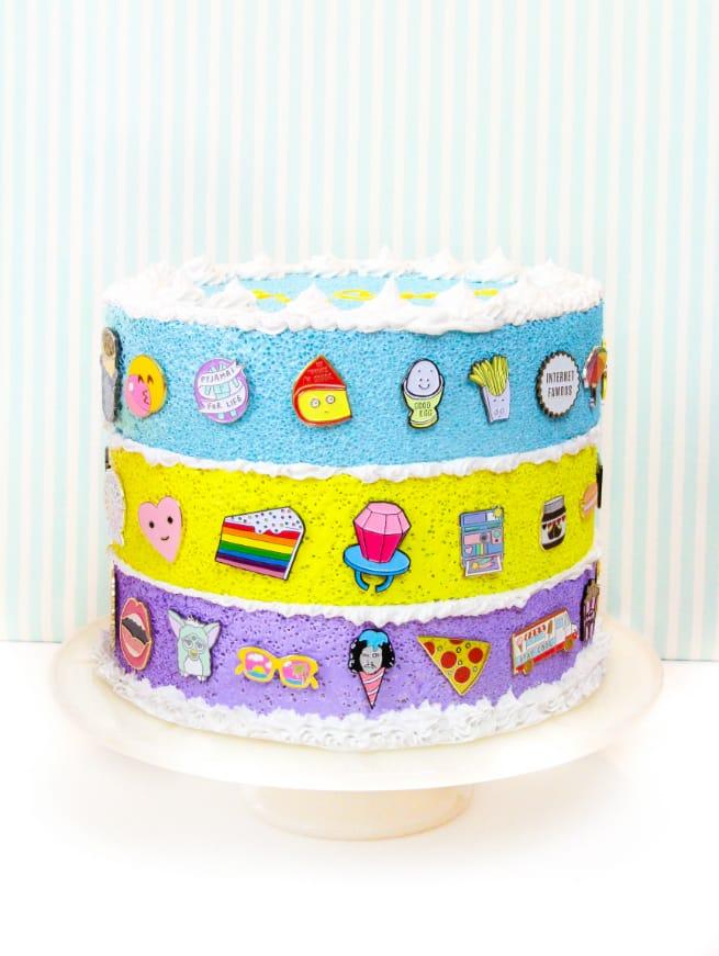 Rainbow Faux-Cake Flair aka #Pingame Organizers
