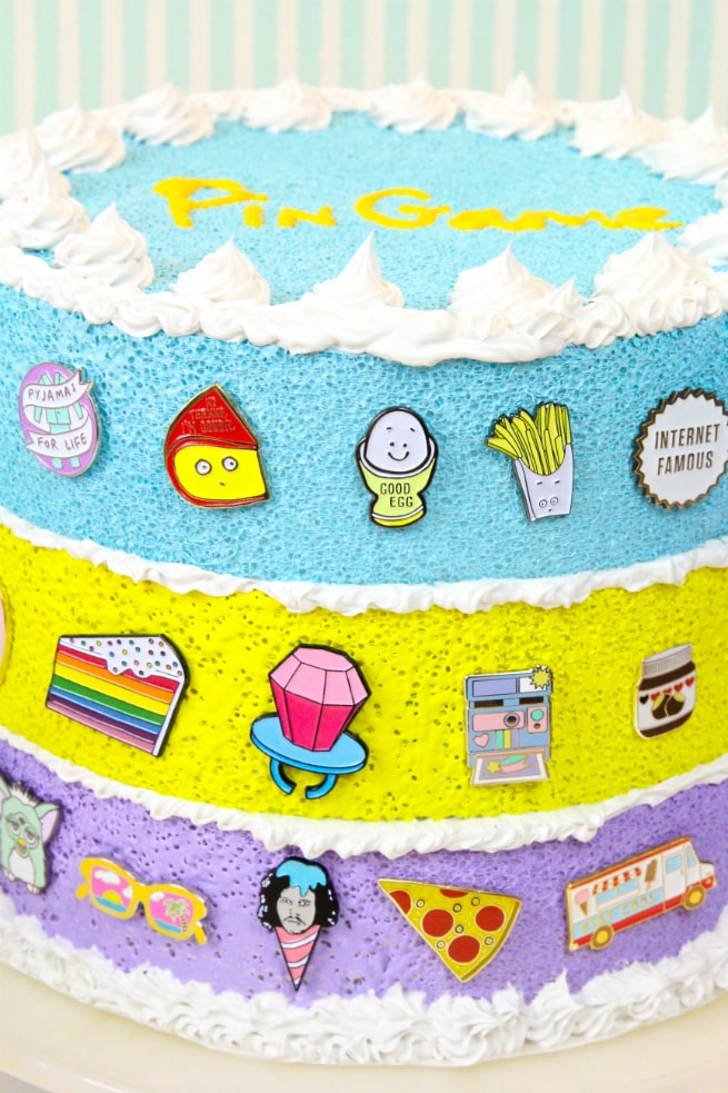 Rainbow Faux-Cake #Pingame Organizers
