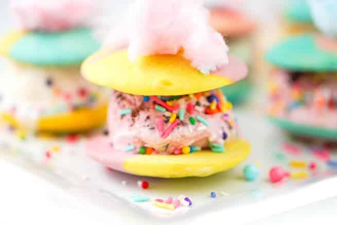 Rainbow Whoopie Pies Ice Cream Sandwiches-2
