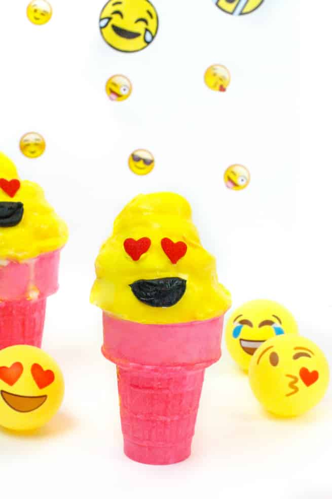 diy emoji ice-cream cone