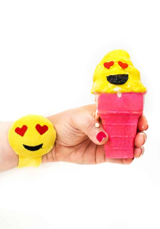 diy emoji ice cream cone