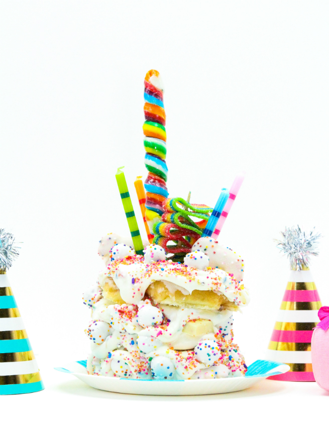 DIY Birthday Cake Crazy Donut