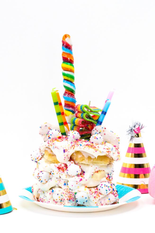 DIY Crazy Birthday Cake Donut
