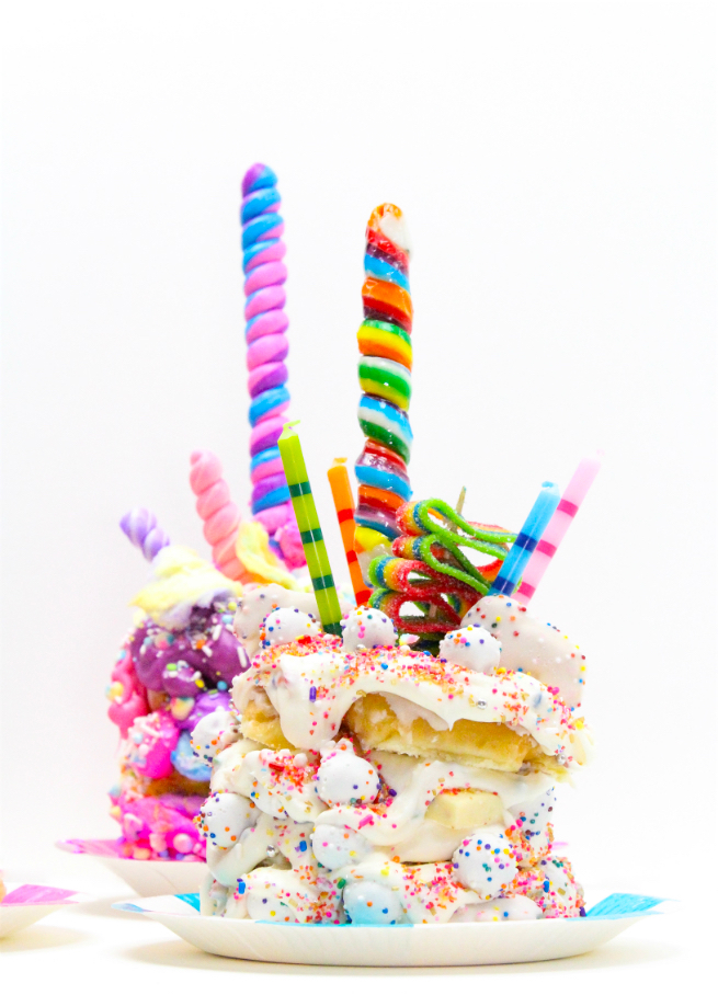 DIY Crazy Stacked Birthday Cake Donuts