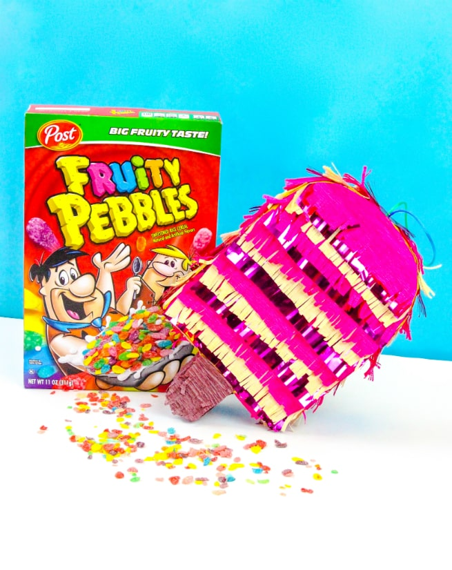 DIY Fruity Pebbles Popsicle Pinata With Box