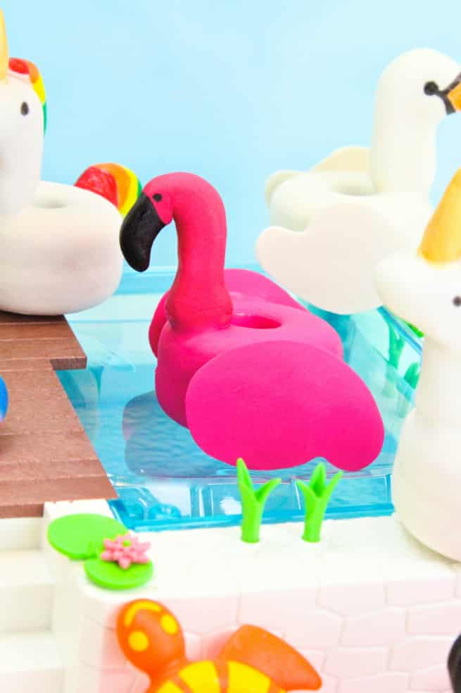 DIY Pocky Filled Flamingo Pool Float Bon Bons