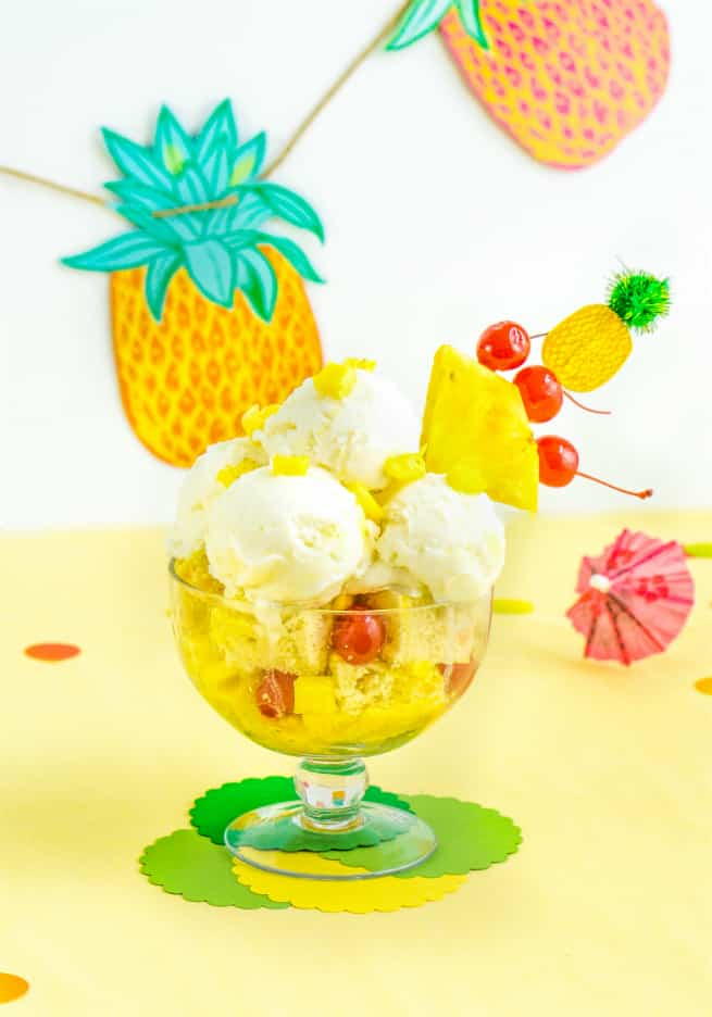 Yummy Pina Colada Dreams Cake & Ice Cream Dessert 1