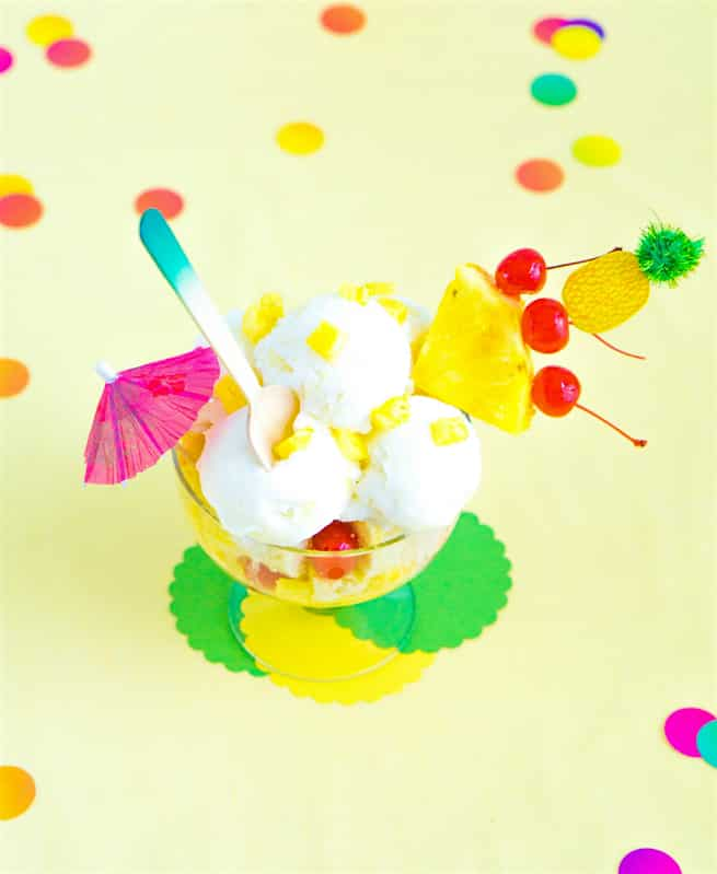 Yummy Pina Colada Dreams Cake & Ice Cream Dessert 3