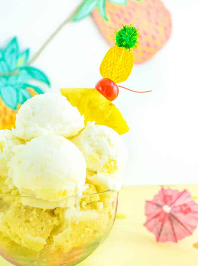 Yummy Pina Colada Dreams Cake & Ice Cream Dessert 6