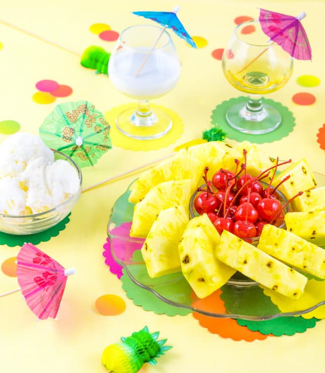 Yummy Pina Colada Dreams Cake & Ice Cream Dessert Ingredients 2