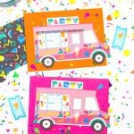 90's Retro Free Printable Ice Cream Truck Party Invites!