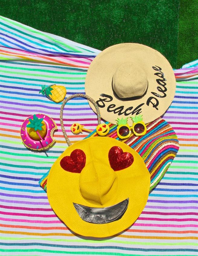 Emoji Sun Hat DIYs