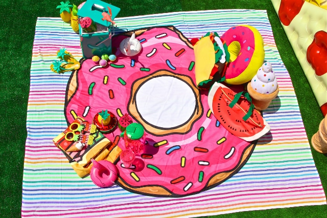 Foodie Pool Party Donut Beach Blanet 1