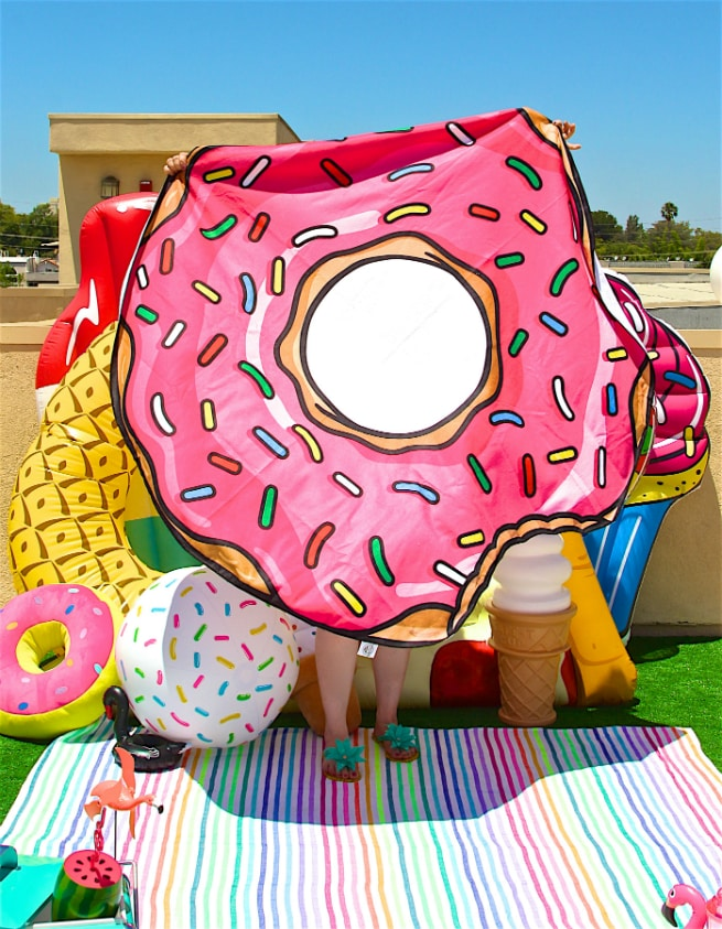 Foodie Pool Party Donut Beach Blanet 3