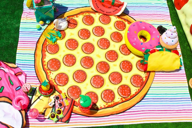 Foodie Pool Party Pizza Beach Blanet