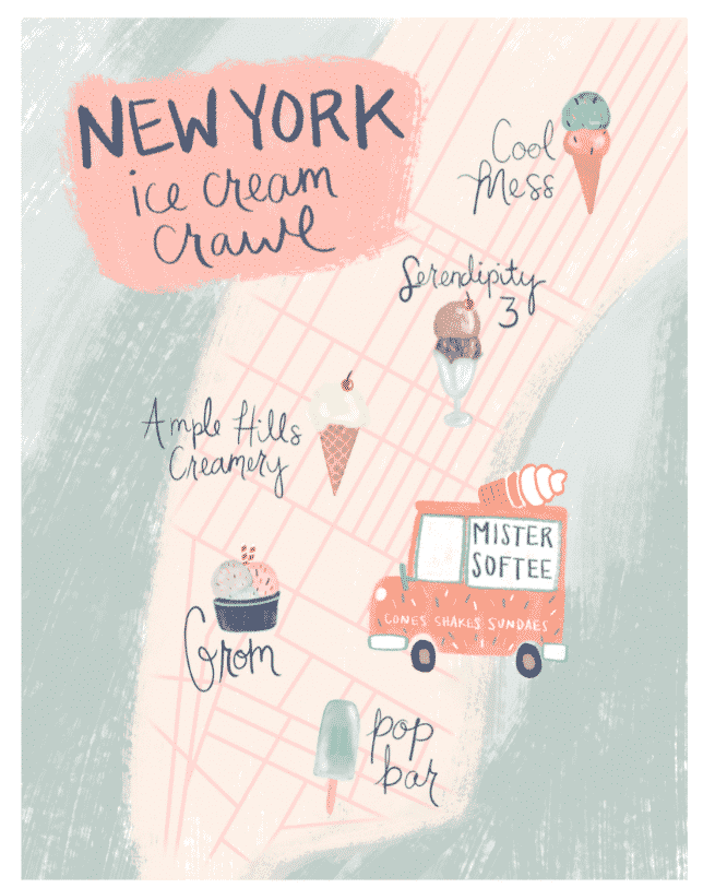 Ice Cream Crawl Map