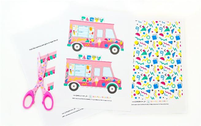 90's Retro Free Printable Ice Cream Truck Party Invites ...