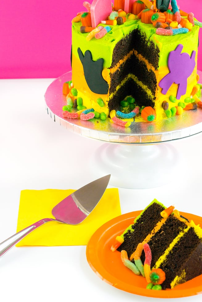 yummy-lisa-frank-inspired-neon-halloween-cake