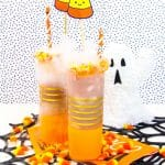 Boo-zy Candy Corn Creamsicle Cocktail!