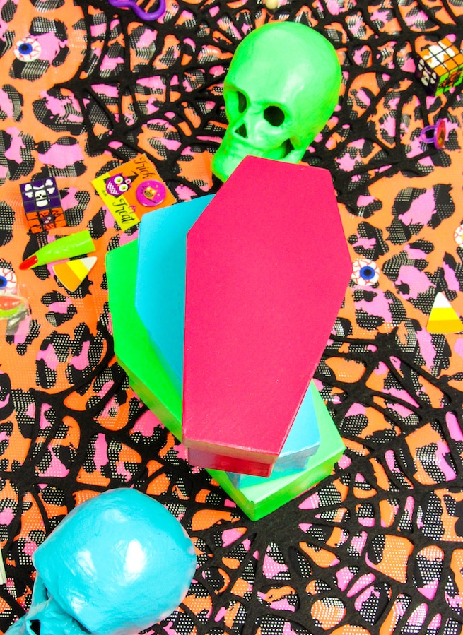 diy-colorful-halloween-coffin-containers