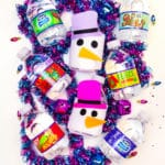 DIY Snowman Mini Water Bottle Sleeves!