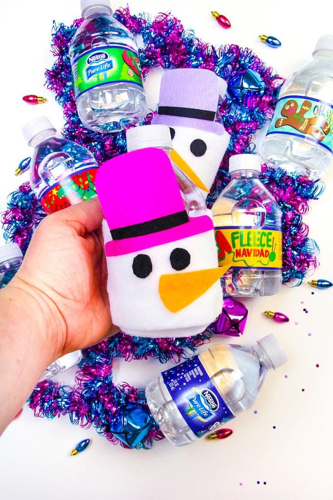 diy-snowman-mini-water-bottle-sleeves-2