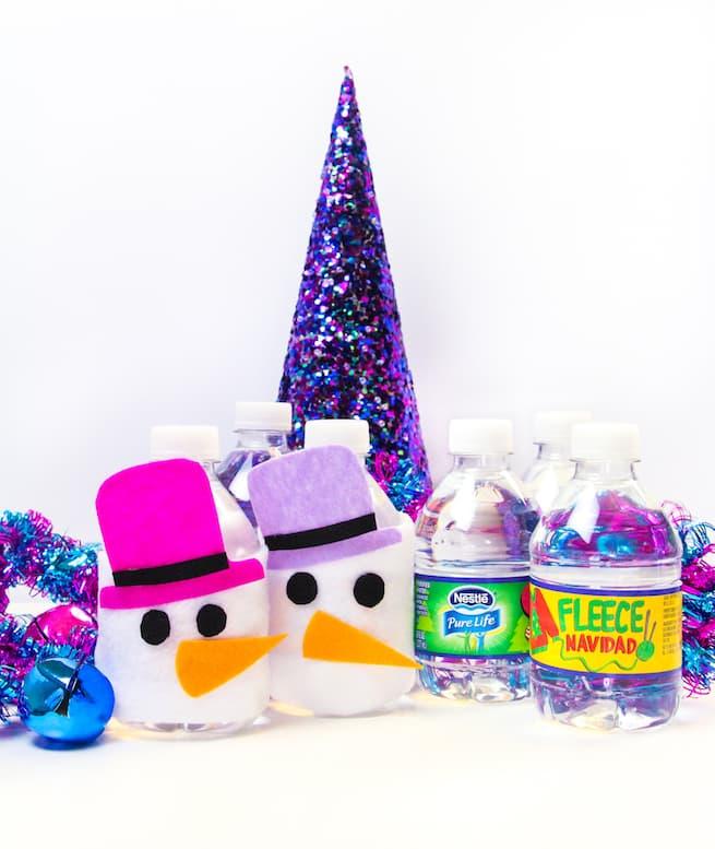 easy-diy-snowman-mini-water-bottle-sleeves