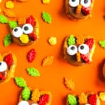 DIY Leftover Halloween Candy Turkey Pretzels!