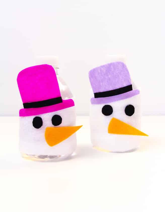 snowman-mini-water-bottle-sleeves