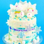 DIY Shimmery Snowgirl Cake!