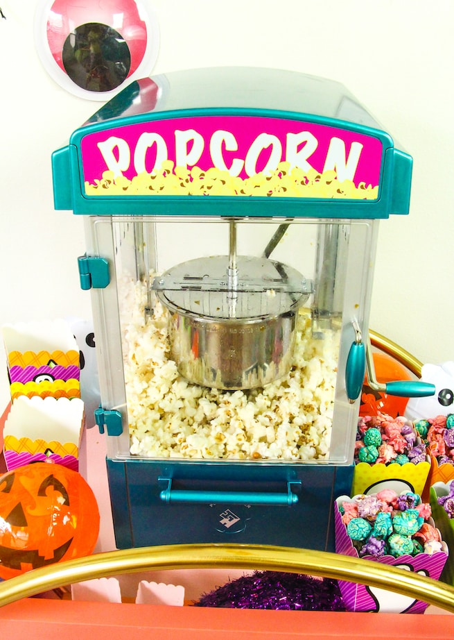 lisa-frank-inspired-halloween-party-popcorn-bar