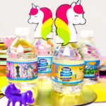 Easy DIY Unicorn Kids Party Drinks!