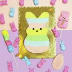 DIY Giant Rainbow Peeps Bunny Cookie!