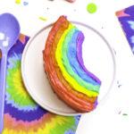 DIY Rainbow Emoji Mini Cakes!