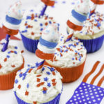 Easy Patriotic Fireworks Cupcakes!