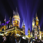 Check Out The Nighttime Lights at Hogwarts Castle!