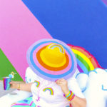 DIY Rainbow Sun Hat!