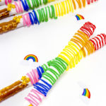 Yummy Rainbow Pretzel Sticks!