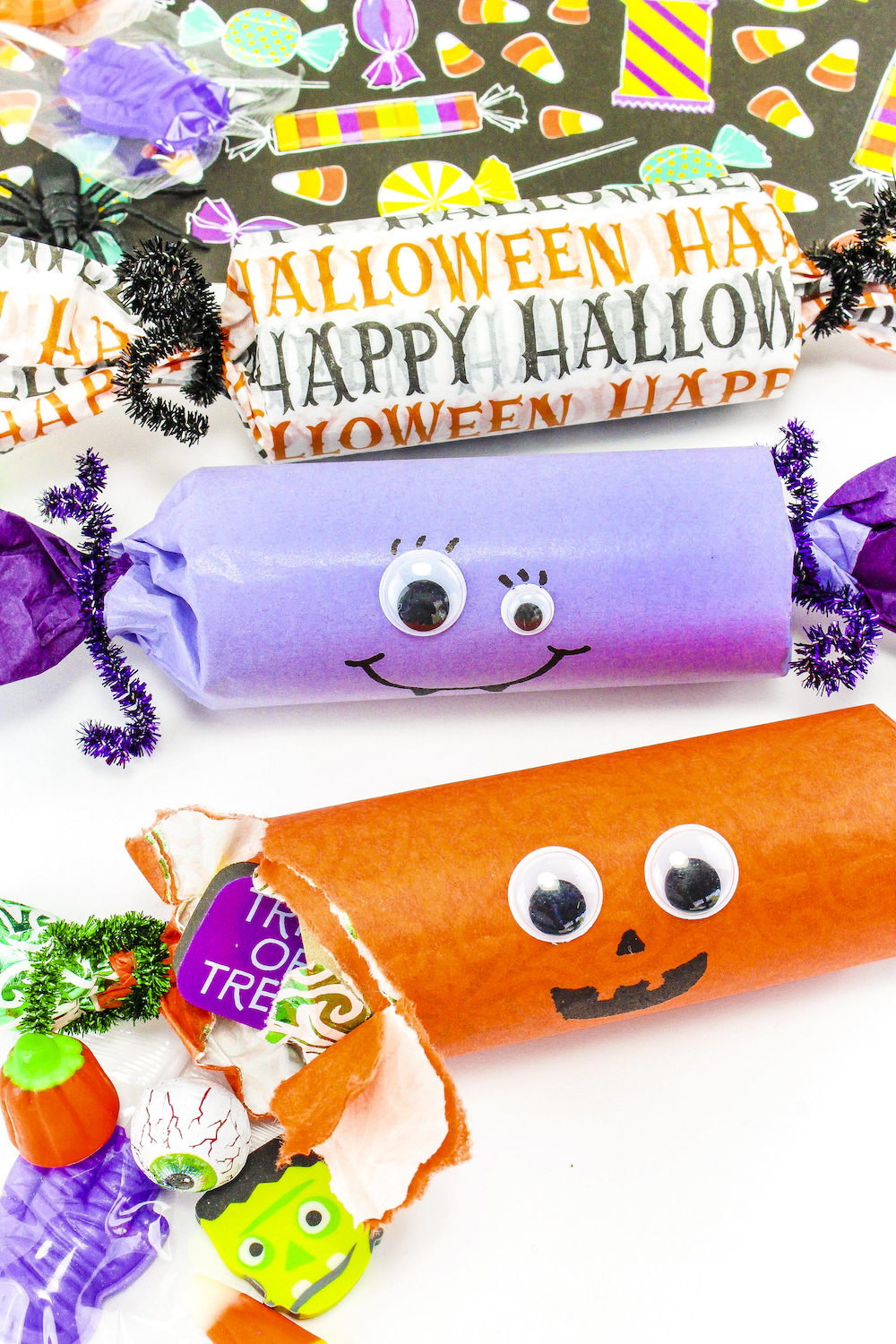 Diy Cute Halloween Candy Poppers Brite And Bubbly
