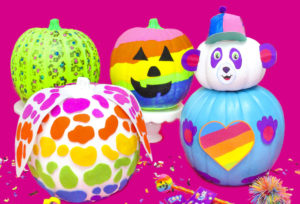 DIY Lisa Frank Inspired Halloween Pumpkins!