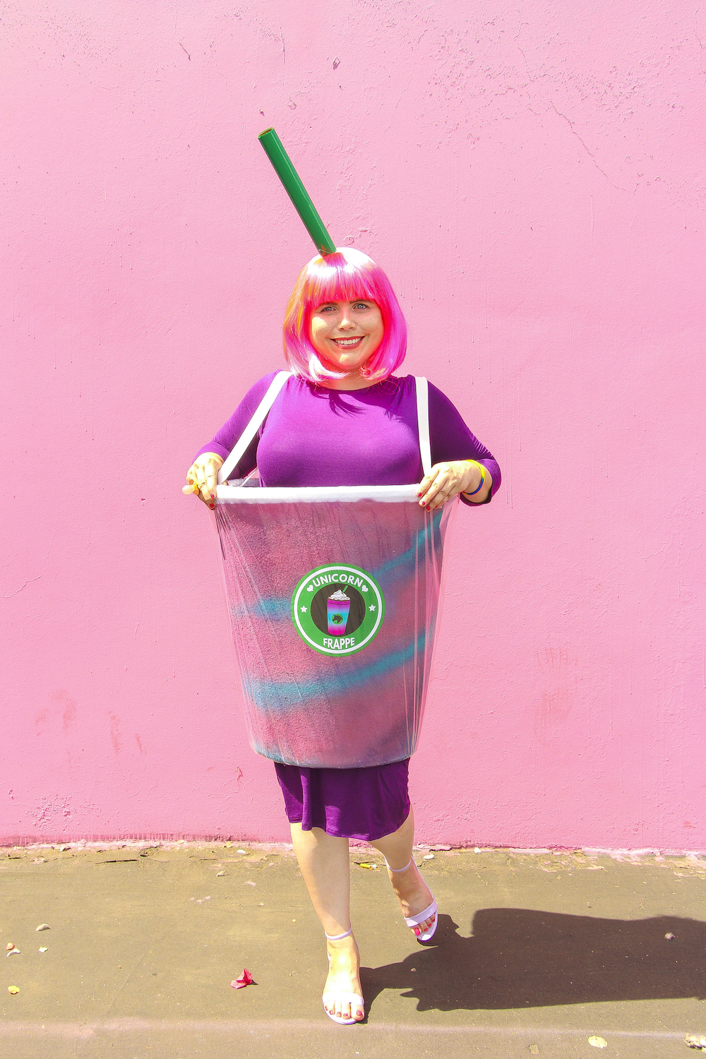 Diy unicorn frappe costume brite and bubbly hey all solutioingenieria Choice Image