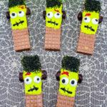 Easy Frankenstein Wafer Cookies!
